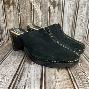 Cole Haan Suede Mule Clogs - Country style - black - size 8.5